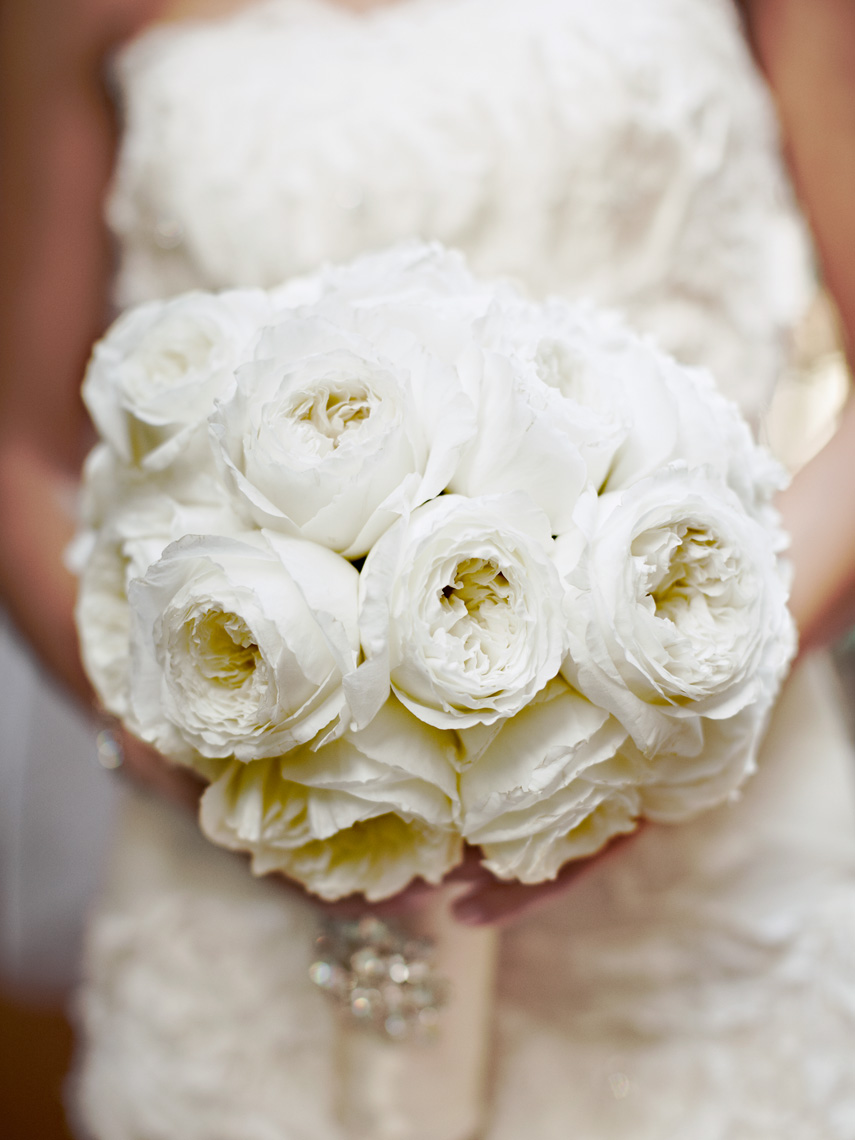Detail of Brides Bouquet at Laguna beach Wedding