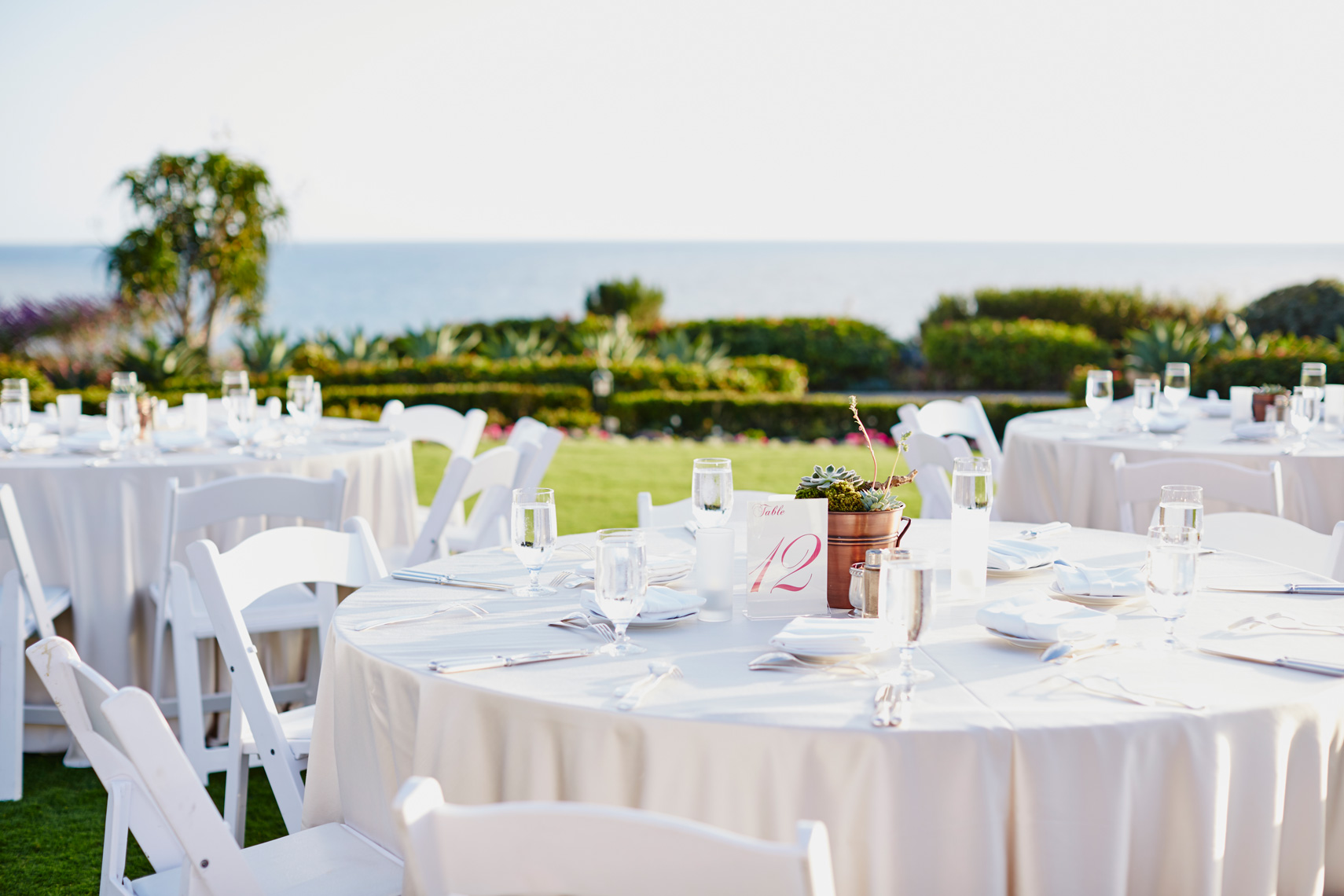 Table decor for Corporate event at Montage Resort in Laguna Beach, California