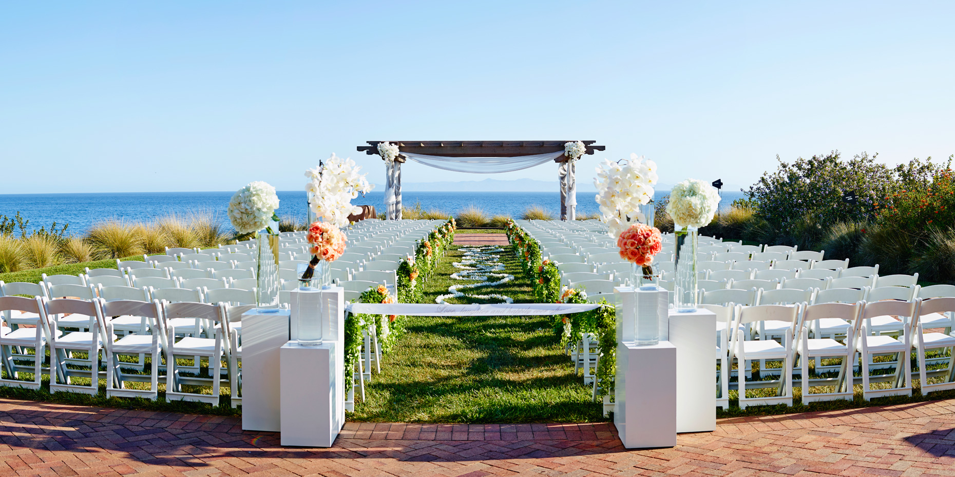 Ceremony location at Terranea Resort in Rancho Palos Verdes California