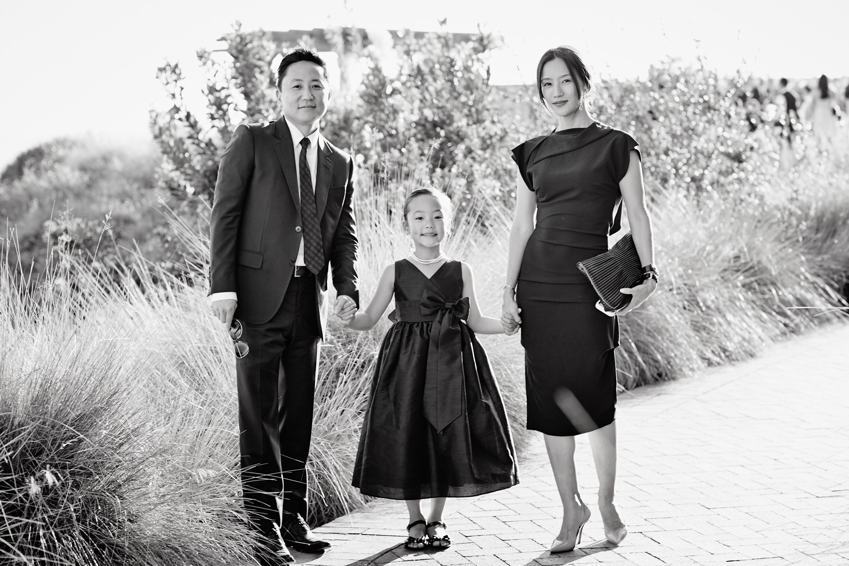 Family attends wedding at Terranea Resort in Rancho Palos Verdes, California