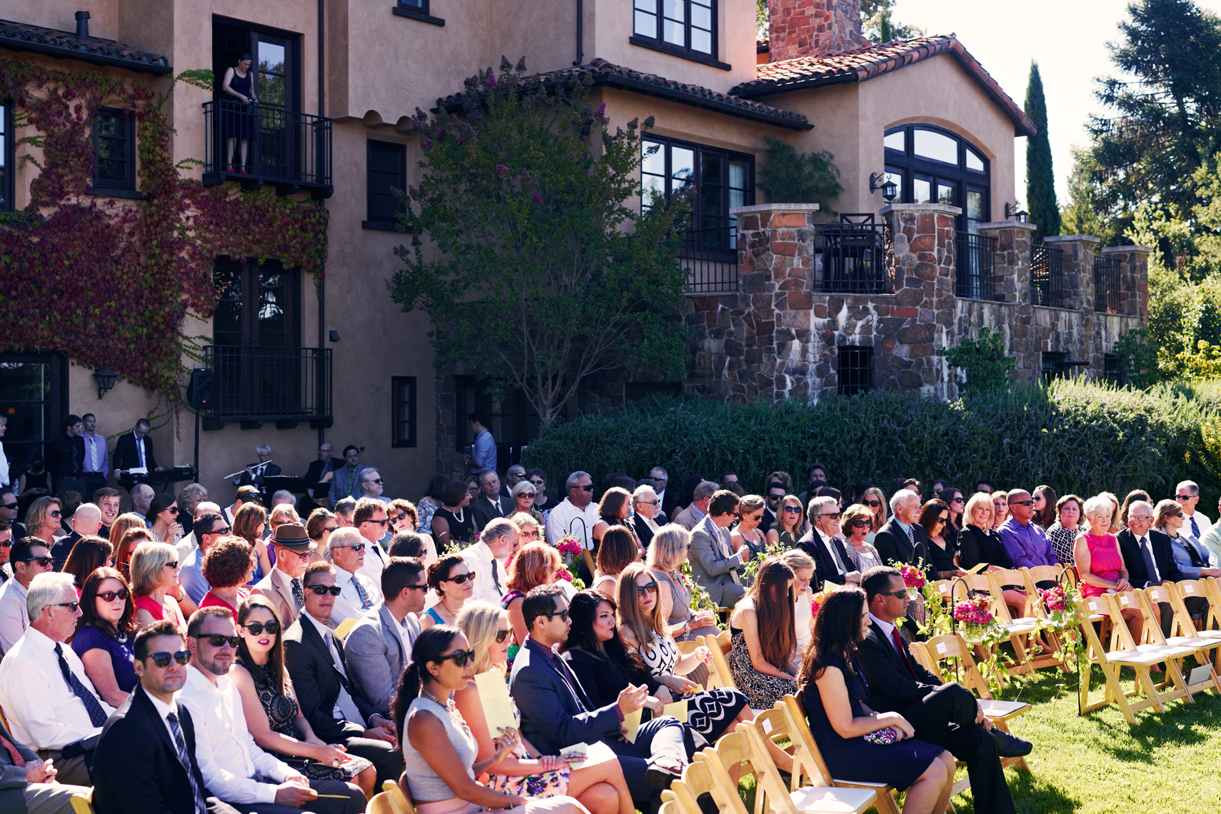 Wedding ceremony at private estate Palo Alto, California