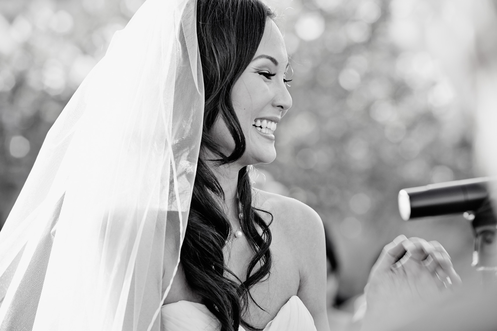 Candid portrait of bride at Terranea Resort in Los Angeles county