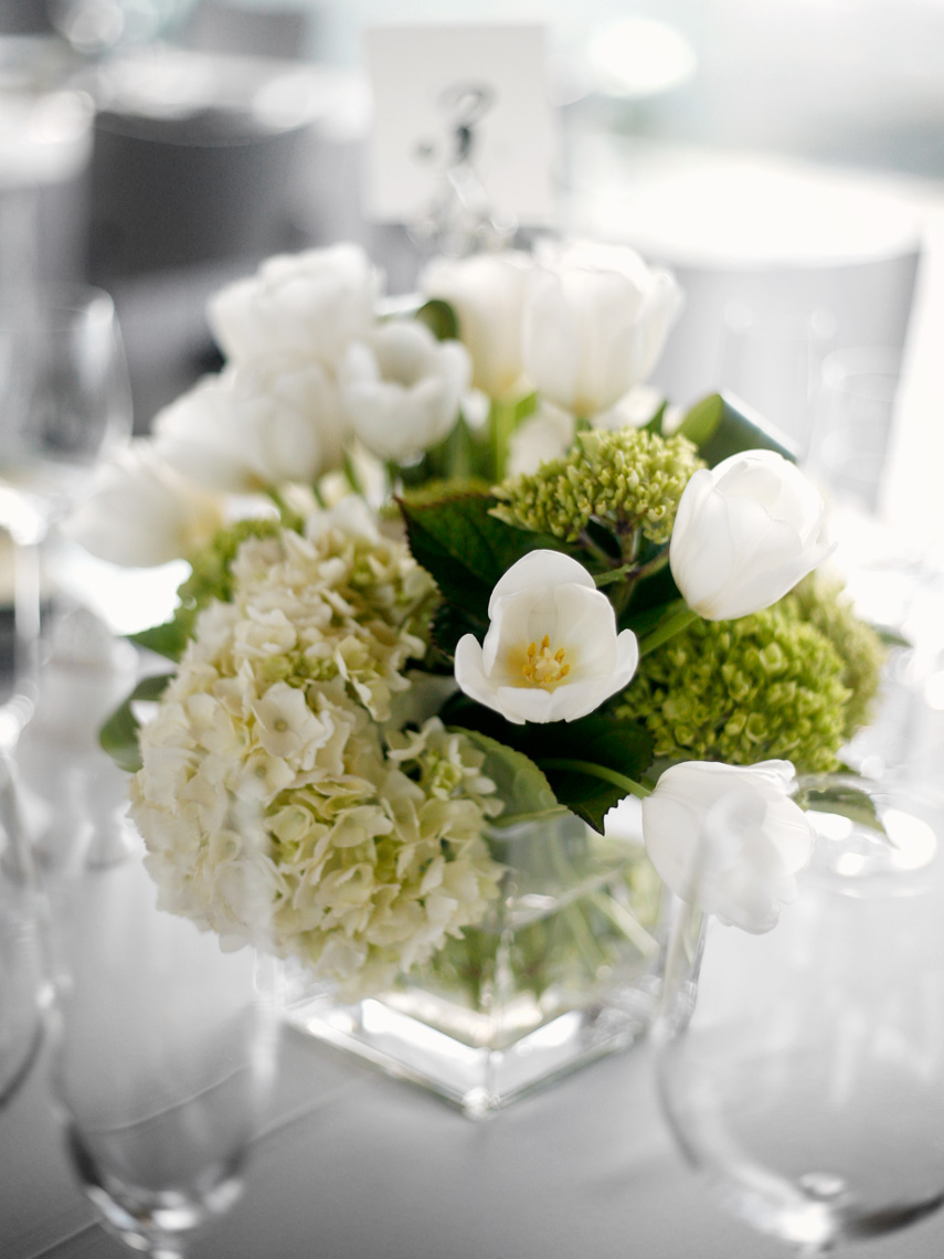 Table Florals and Decor at private residence in Napa valley
