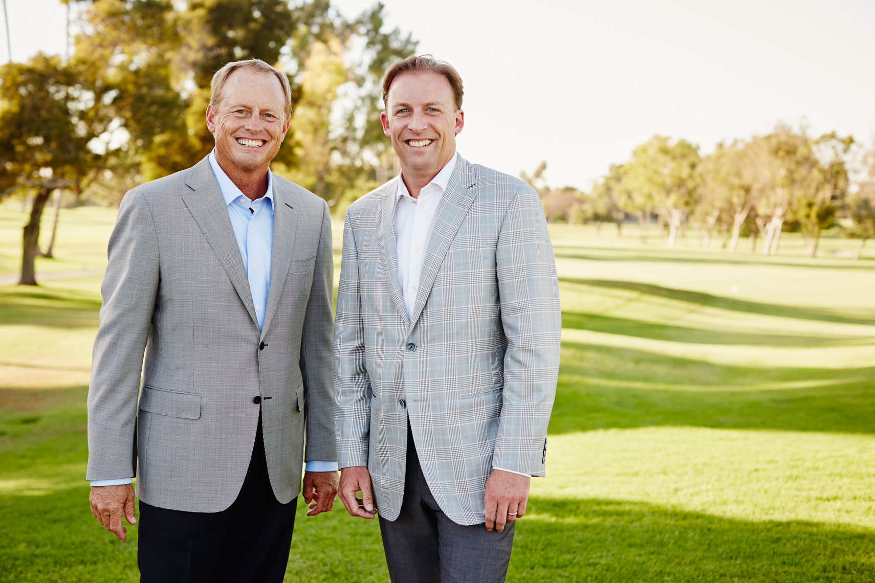 Founders of Newport Beach Country Club pose on Golf course.