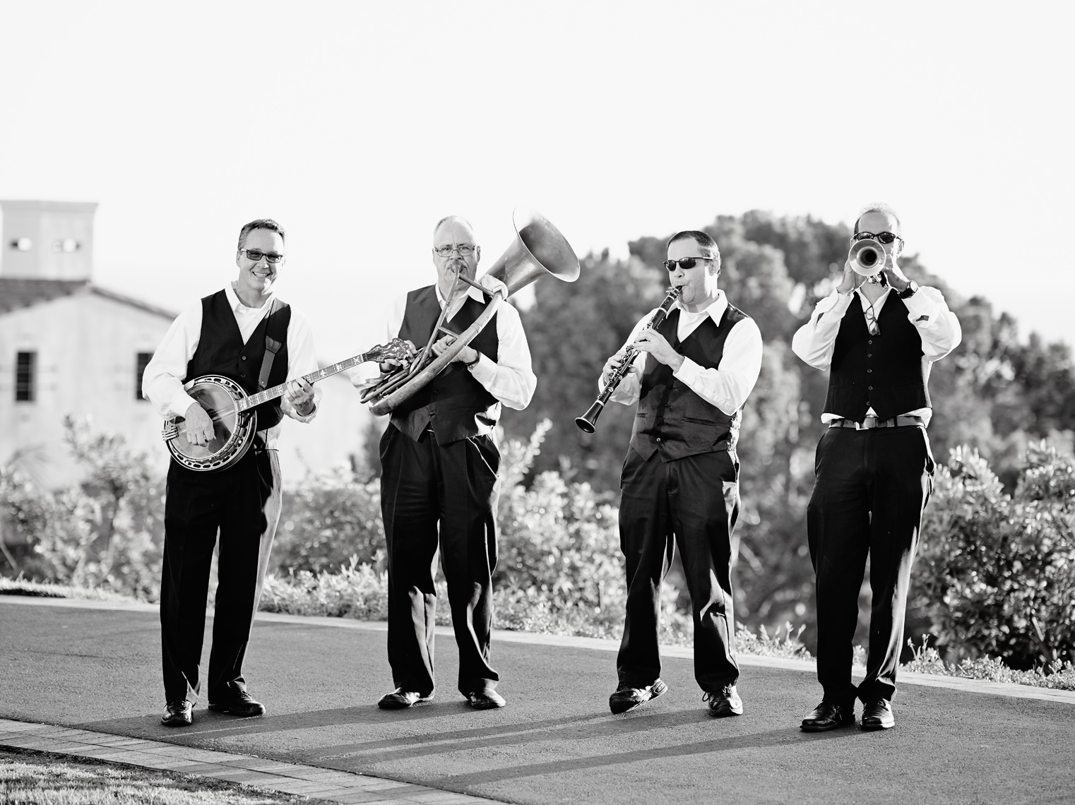 Band performs during cocktail reception at Terranea Resort in Rancho Palos Verdes