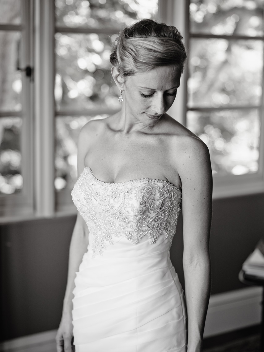 Bride prepares for her wedding in Palo Alto, California