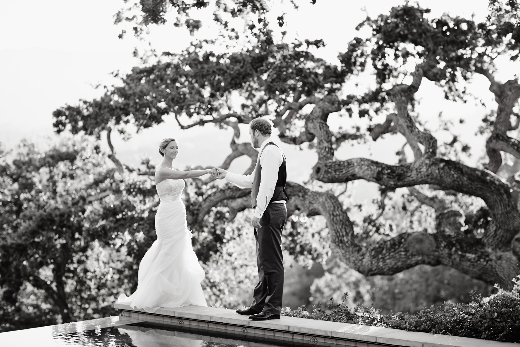 Bride and Groom pose at Palo Alto Wedding. Destination wedding photographer based in Laguna Beach.