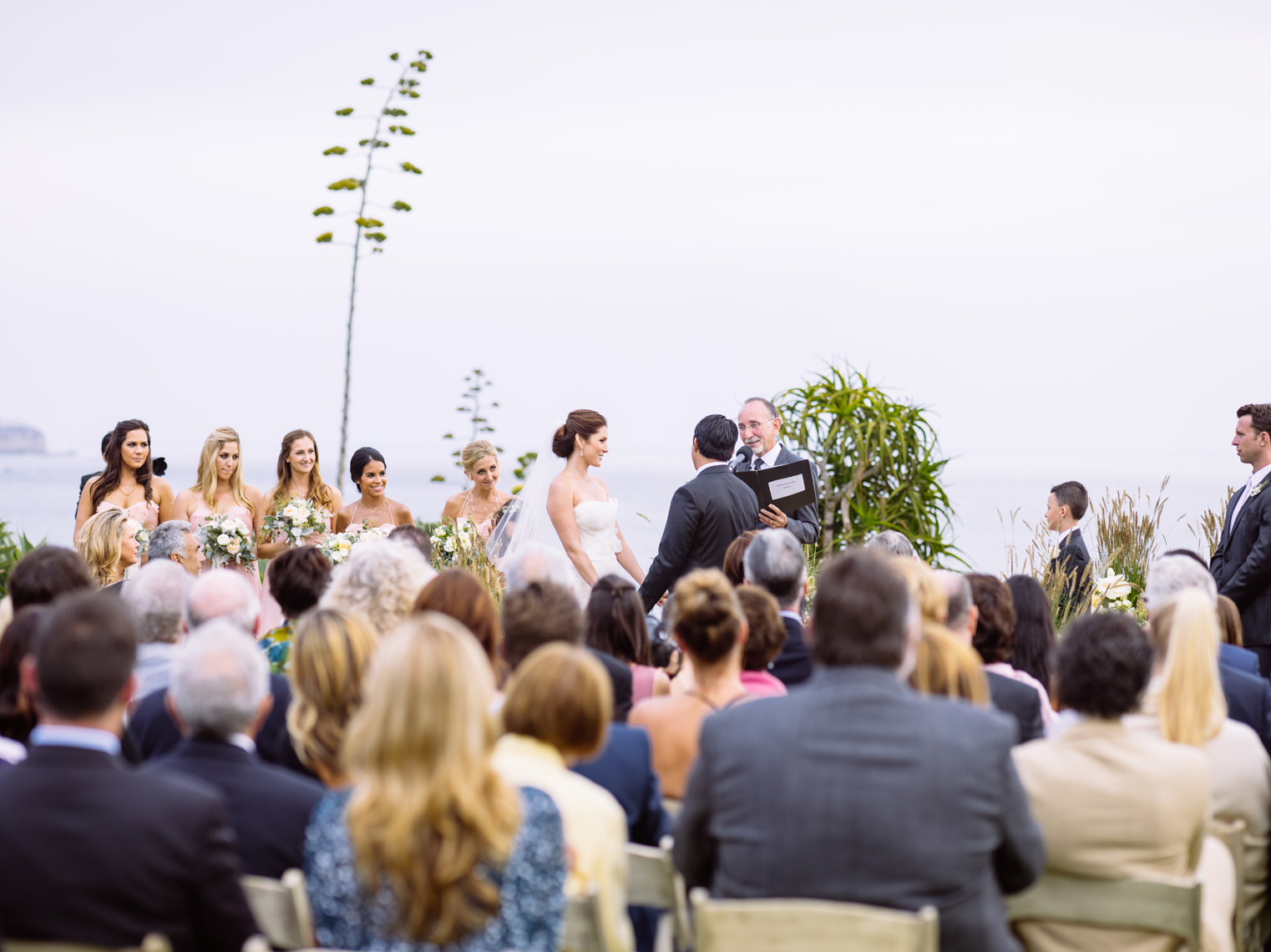 Wedding ceremony at Montage Resort, Laguna Beach.