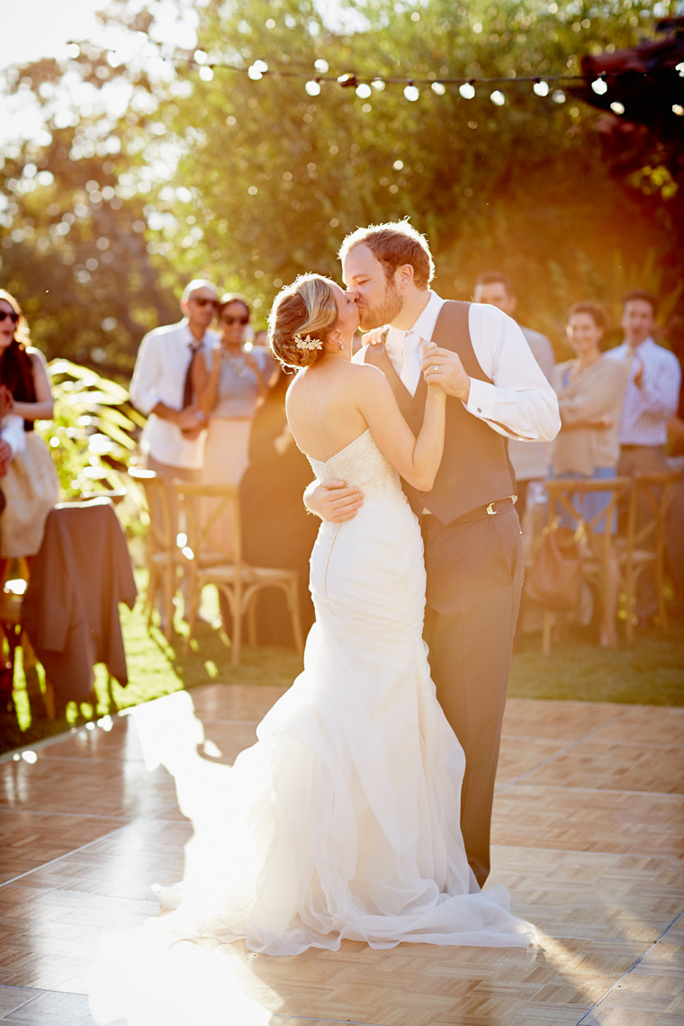 Bride and groom share first dance at wedding in Palo Alto, CA