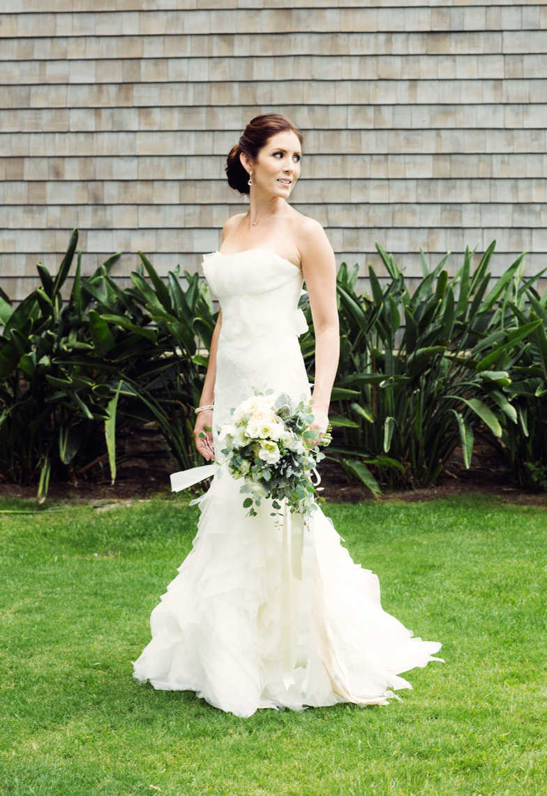 Bride poses at Montage Resort, Laguna Beach