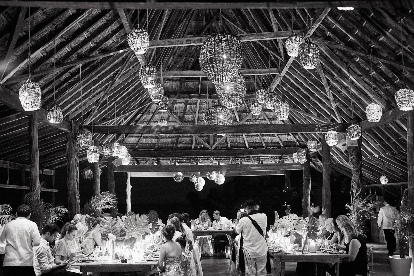 Dinner reception at Papaya Playa Resort in Tulum, Mexico