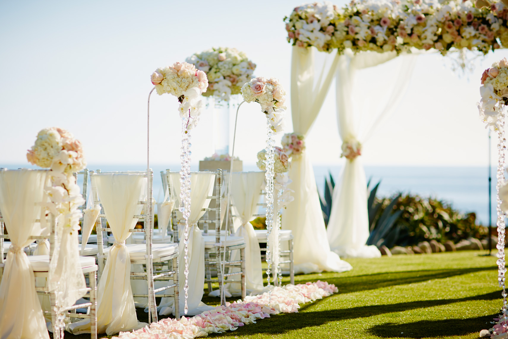 Wedding ceremony location at Montage, Laguna Beach